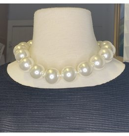 Kenneth Jay Lane 25mm White Pearl Necklace
