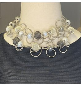 Nikaia Inc. Fine Coil Loops Silver Necklace