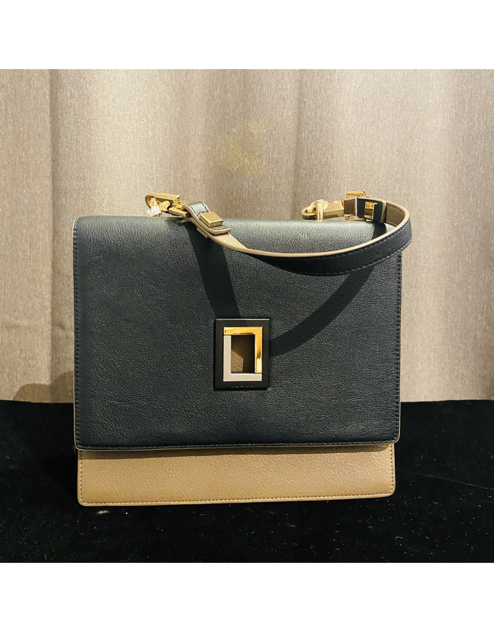 VC Accessories Marianna Satchel in Ebony and Taupe
