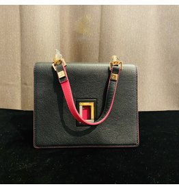 VC Accessories Marianna Crossbody in Ebony and Fuchsia