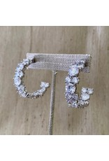 Jardin Rhinestone Inside Out Hoop Pierced