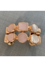 VC Exclusives Double Mother of Pearl and Gold Bracelet
