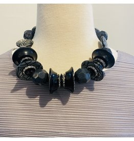 Angela Caputi Grey and Black Choker