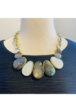 Vaubel Large Stones, Benzel with Circles Chain Necklace