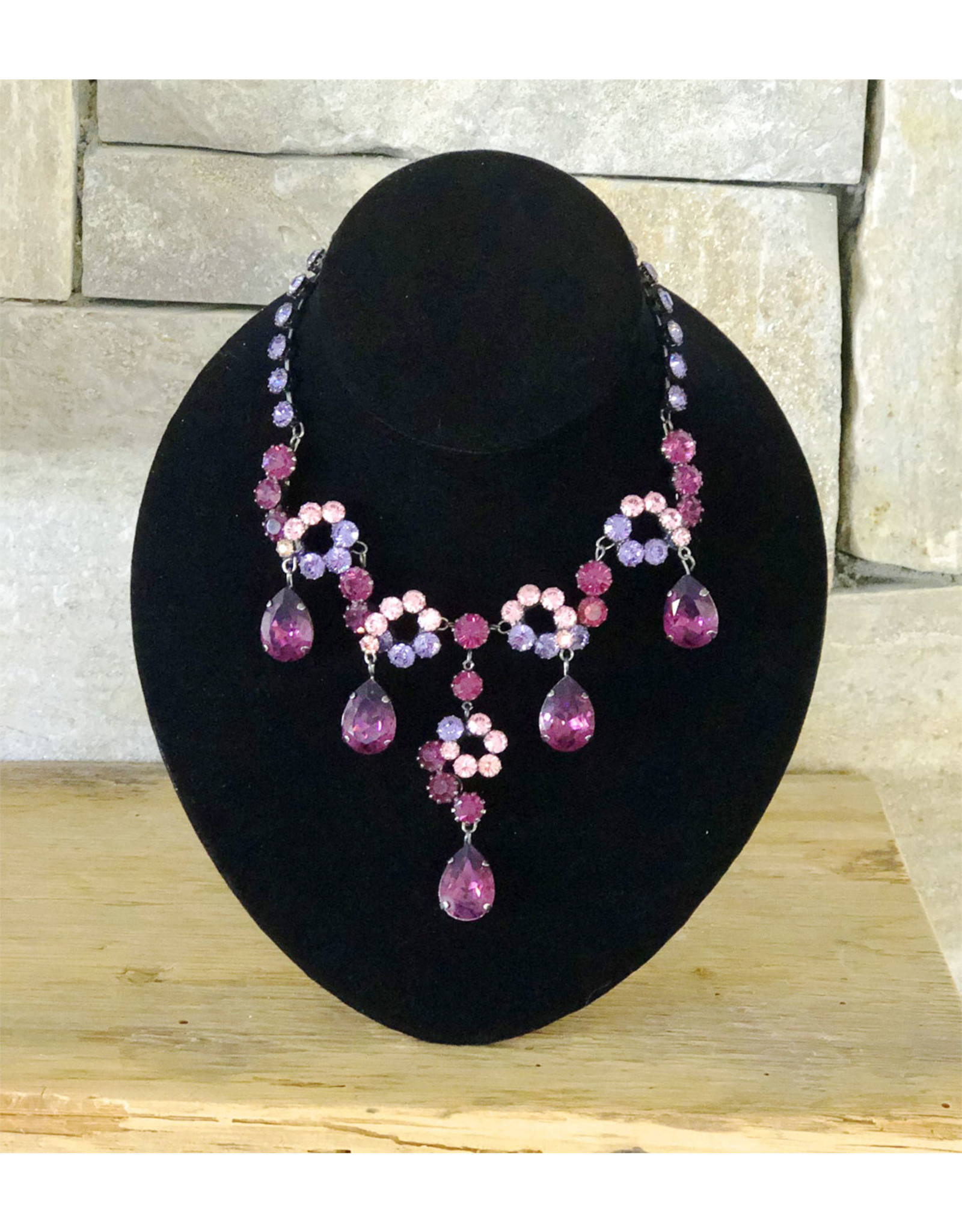 Francoise Montague Amethyst Rhinestones Necklace