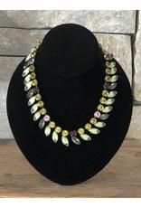 Jean Louis Blinn Petals Crystal Necklace