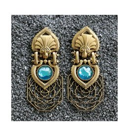 Jean Louis Blinn Lattice Clip Earring