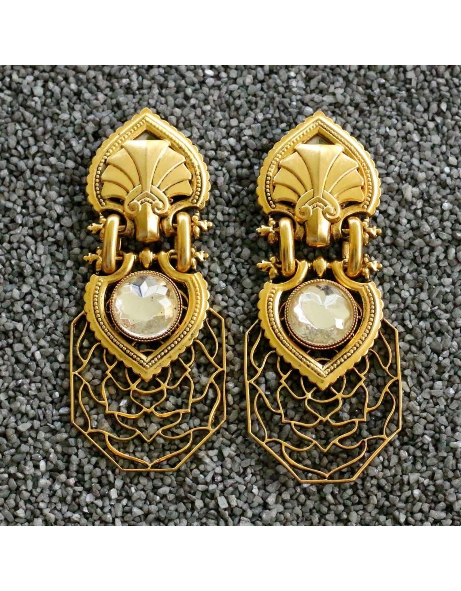 Jean Louis Blinn Lattice Clip Earring