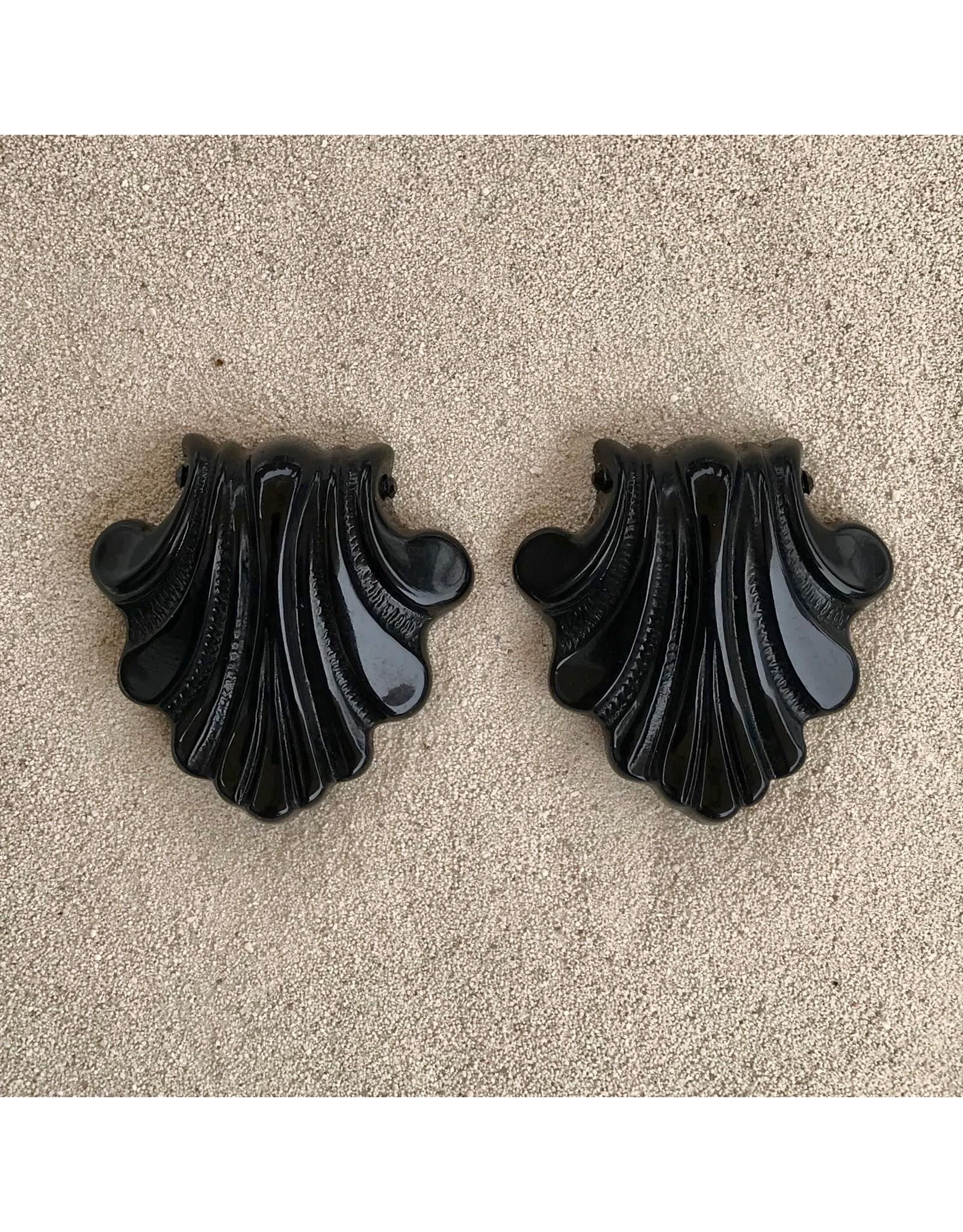 Angela Caputi Deco Black Clip Earring