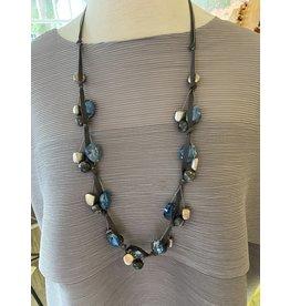 Deborah Grivas Design Suede Long Necklace