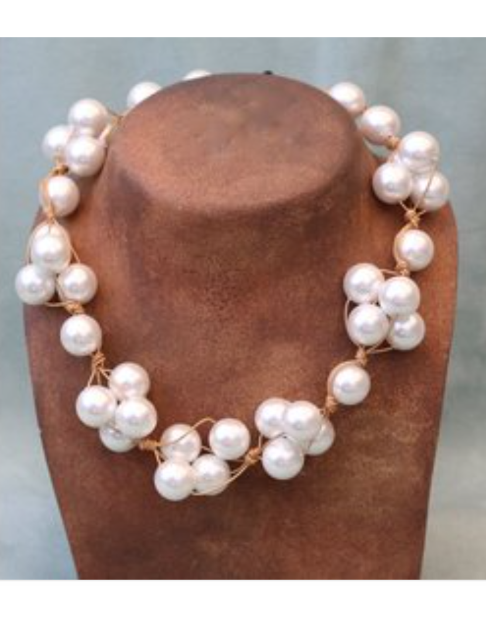 Deborah Grivas Design White Pearl Clusters