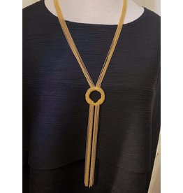 Karin Sultan Gold Tassel Circle Long Necklace