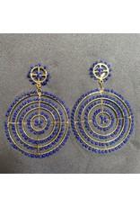 """Kenneth Jay Lane 3"""" Beads Drop Pierced Earrings"""