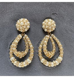 Francoise Montague Lolita w/ Crystal Hoops Clip Earrings