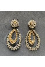 Francoise Montague Lolita w/ Crystal Hoops Clip Earrings