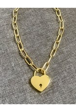 Janis Savitt Gold Padlock Oval Chain