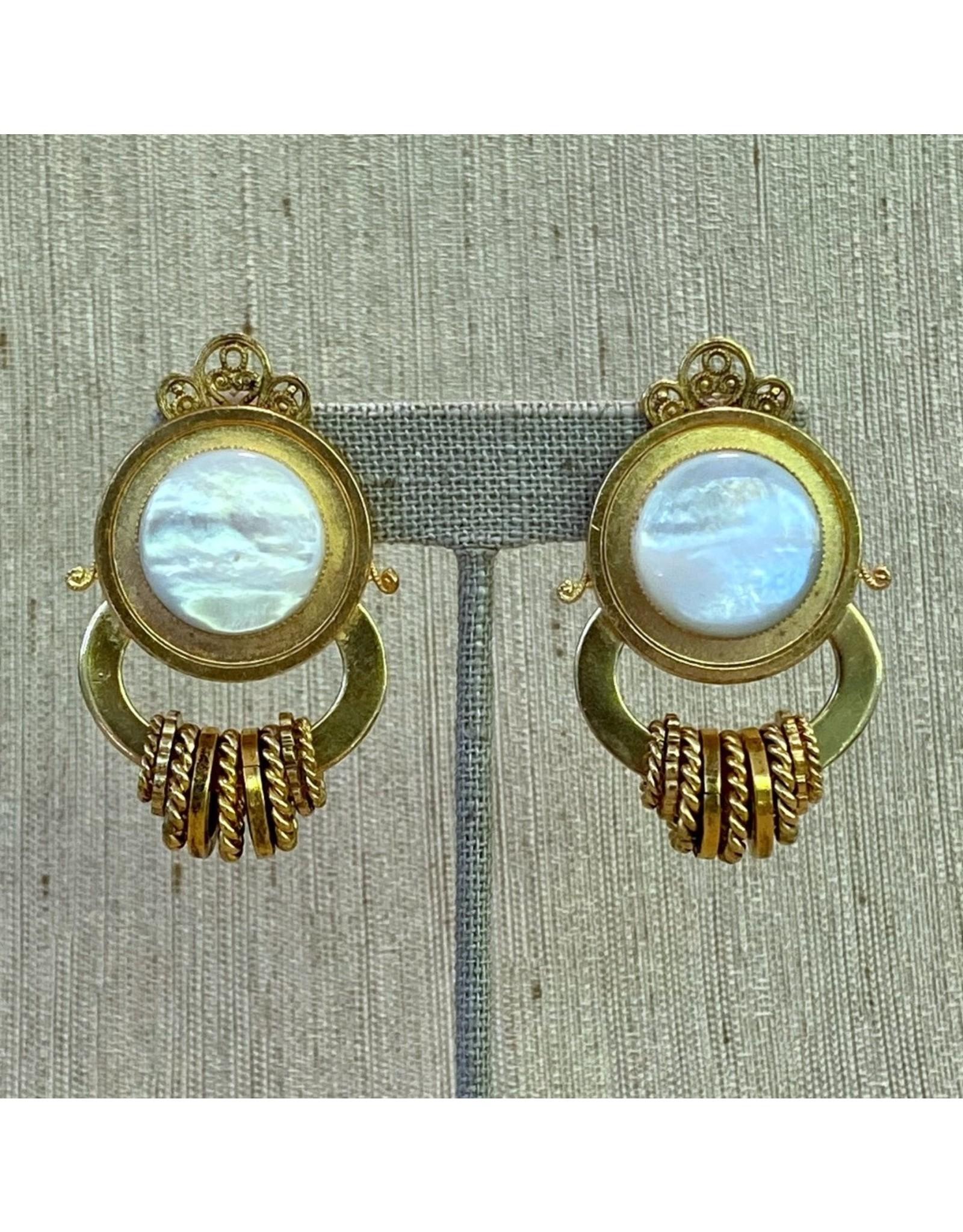 Jean Louis Blinn blin/6922/gold/white/ant/circle