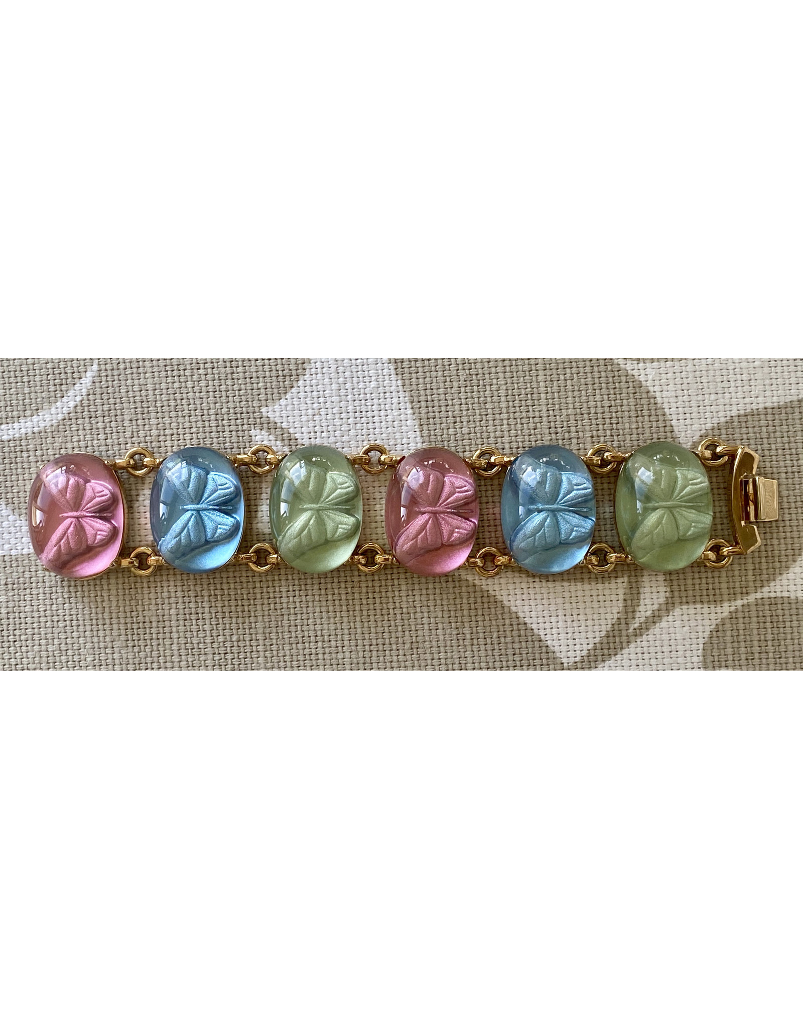 VC Italy Pink, Blue and Green Butterfly Bracelet