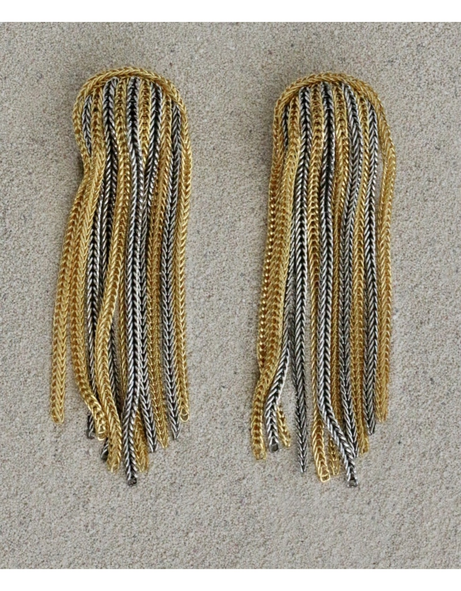 Francoise Montague FMontague: Gold and Silver Tassels