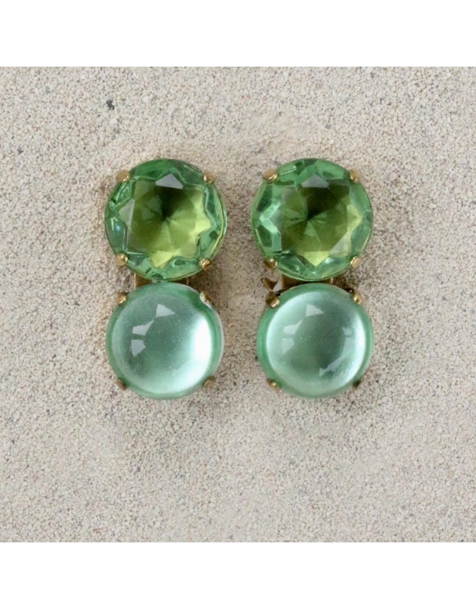 Jean Louis Blinn Blinn: Two Stone Oval Jade