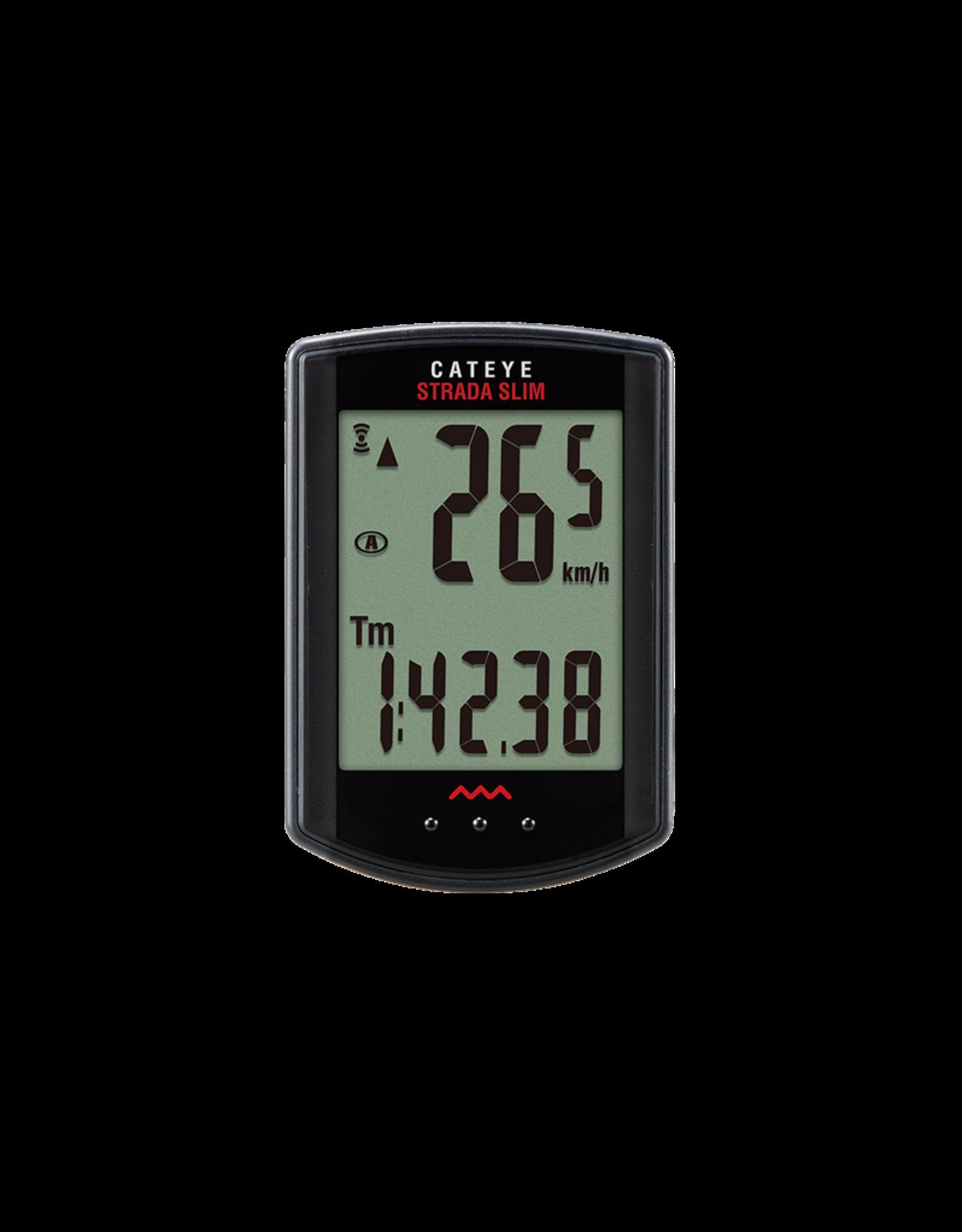 Ordinateur de vélo Cat Eye Strada wireless slim avec capteur numérique