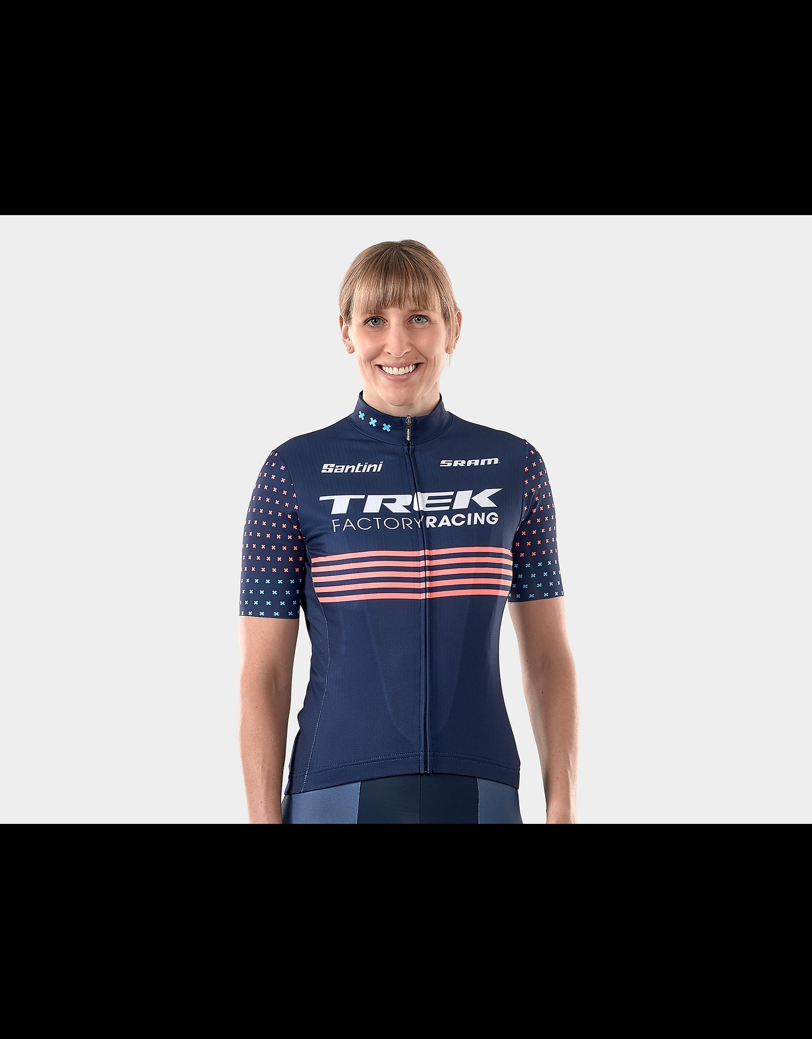 Santini Maillot cycliste CX Santini Trek Factory Racing Replica pour femmes