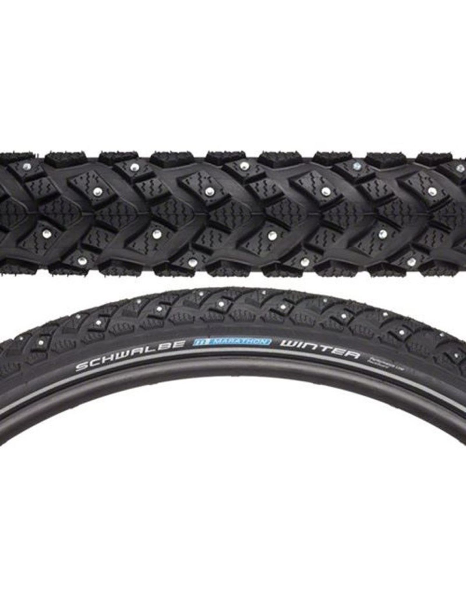 Schwalbe Schwalbe, Marathon Winter Plus, Pneu, 700x40C, Rigide, Tringle, Winter, SmartGuard, 67TPI, Noir