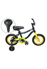 Vélo junior AVP K12 Paresseux Marine/Jaune
