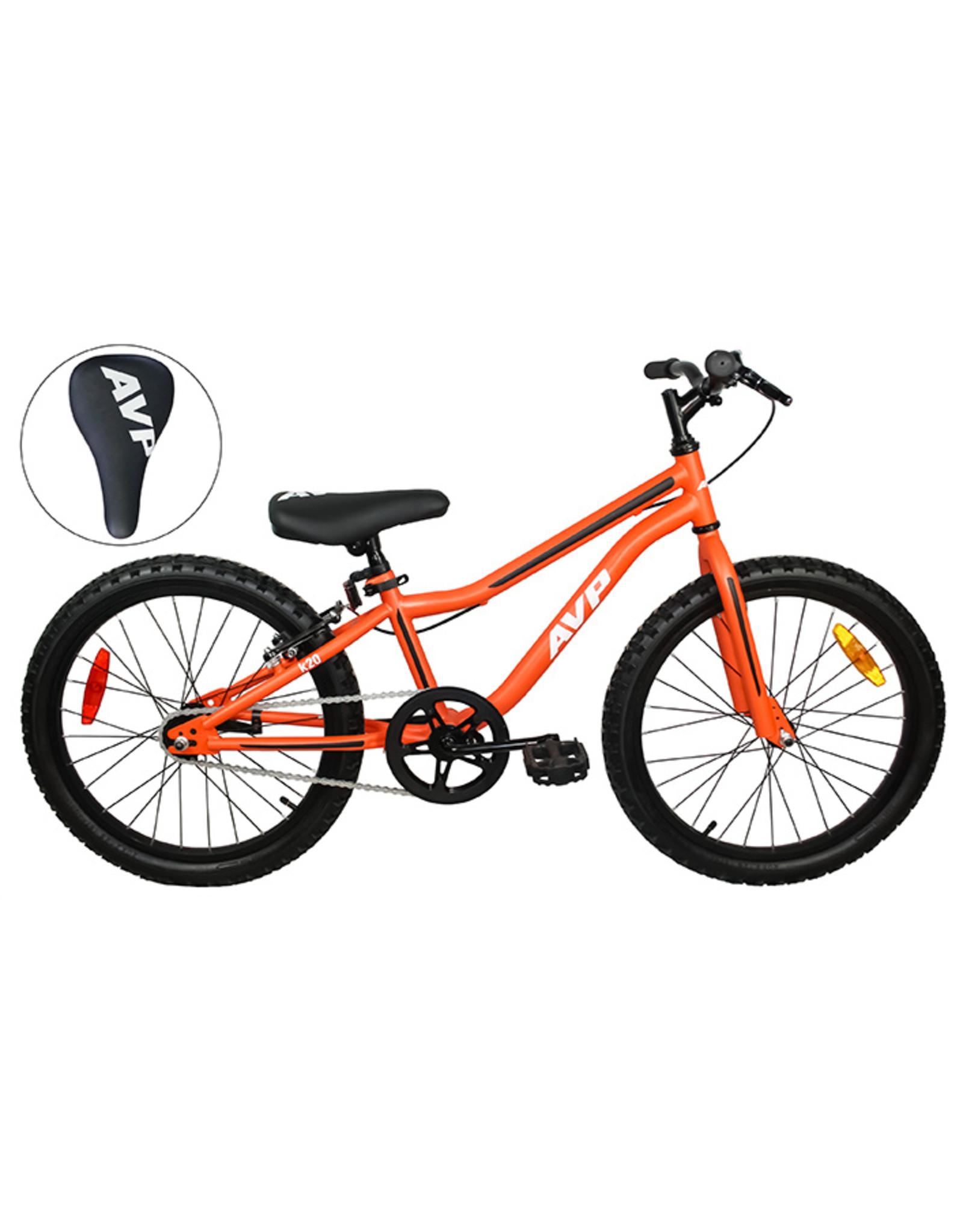 Vélo junior AVP K20 à rétropédalage Orange mat/Noir mat