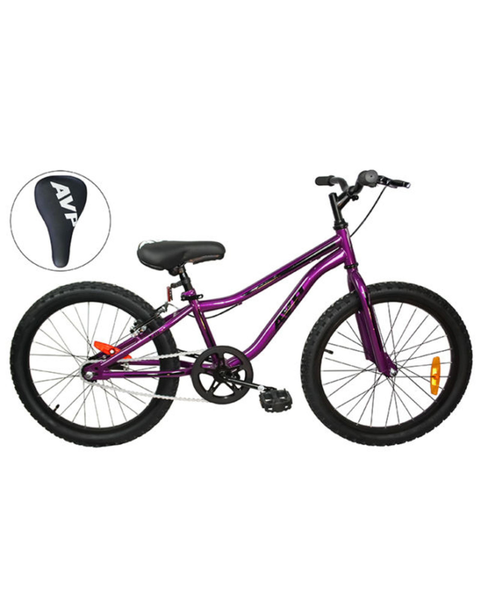 Vélo junior AVP K20 à rétropédalage Mauve/Noir