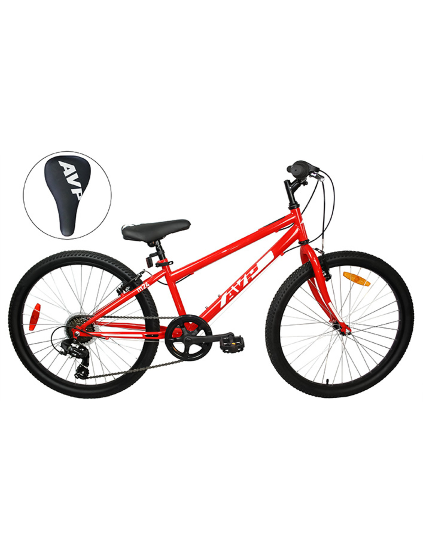 Vélo junior AVP M24 21 vitesses Rouge/Blanc