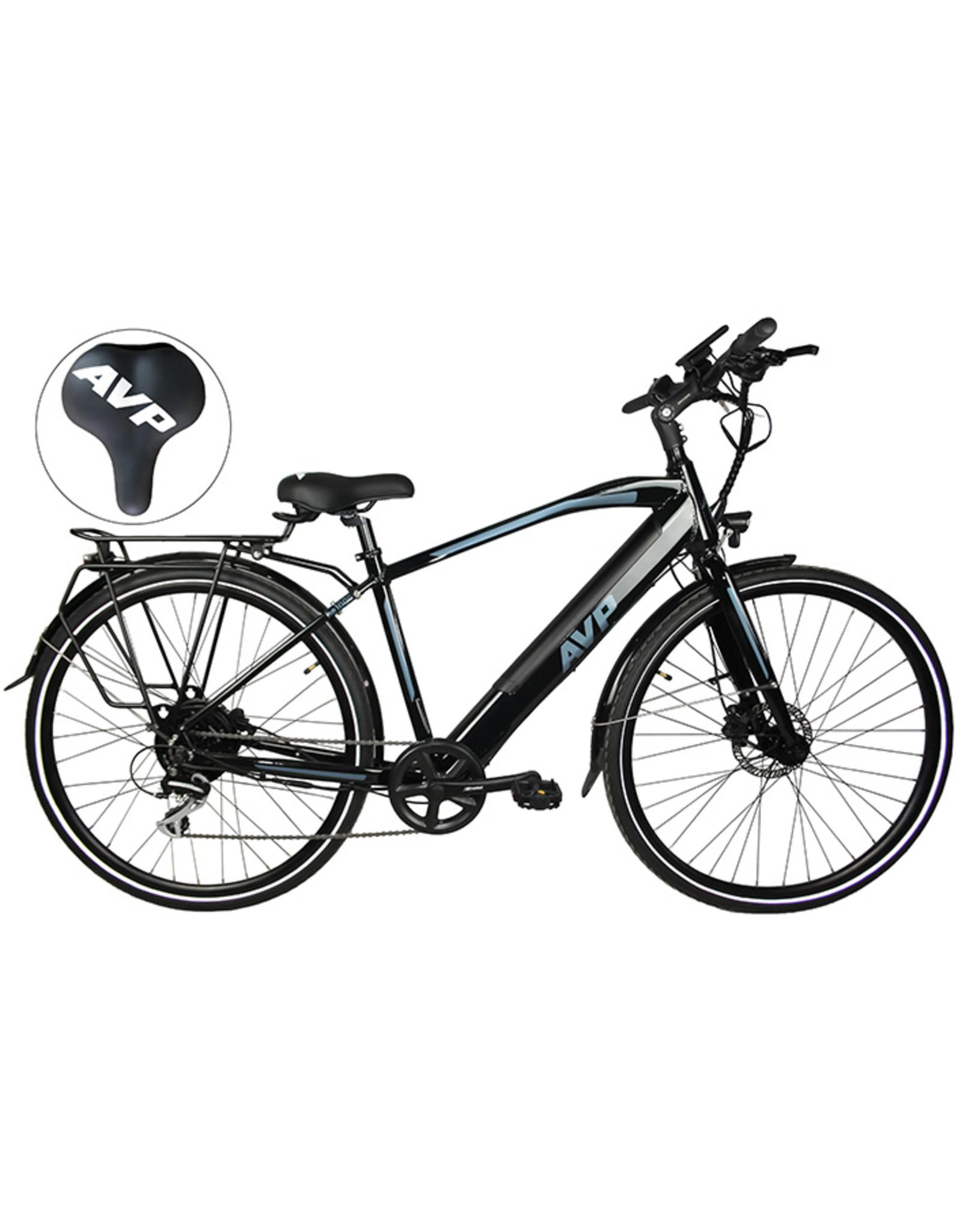 Vélo hybride électrique AVP HE-1000 noir/gris