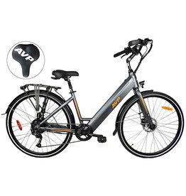 Vélo hybride électrique E-LowStep Charcoal mat/Orange mat