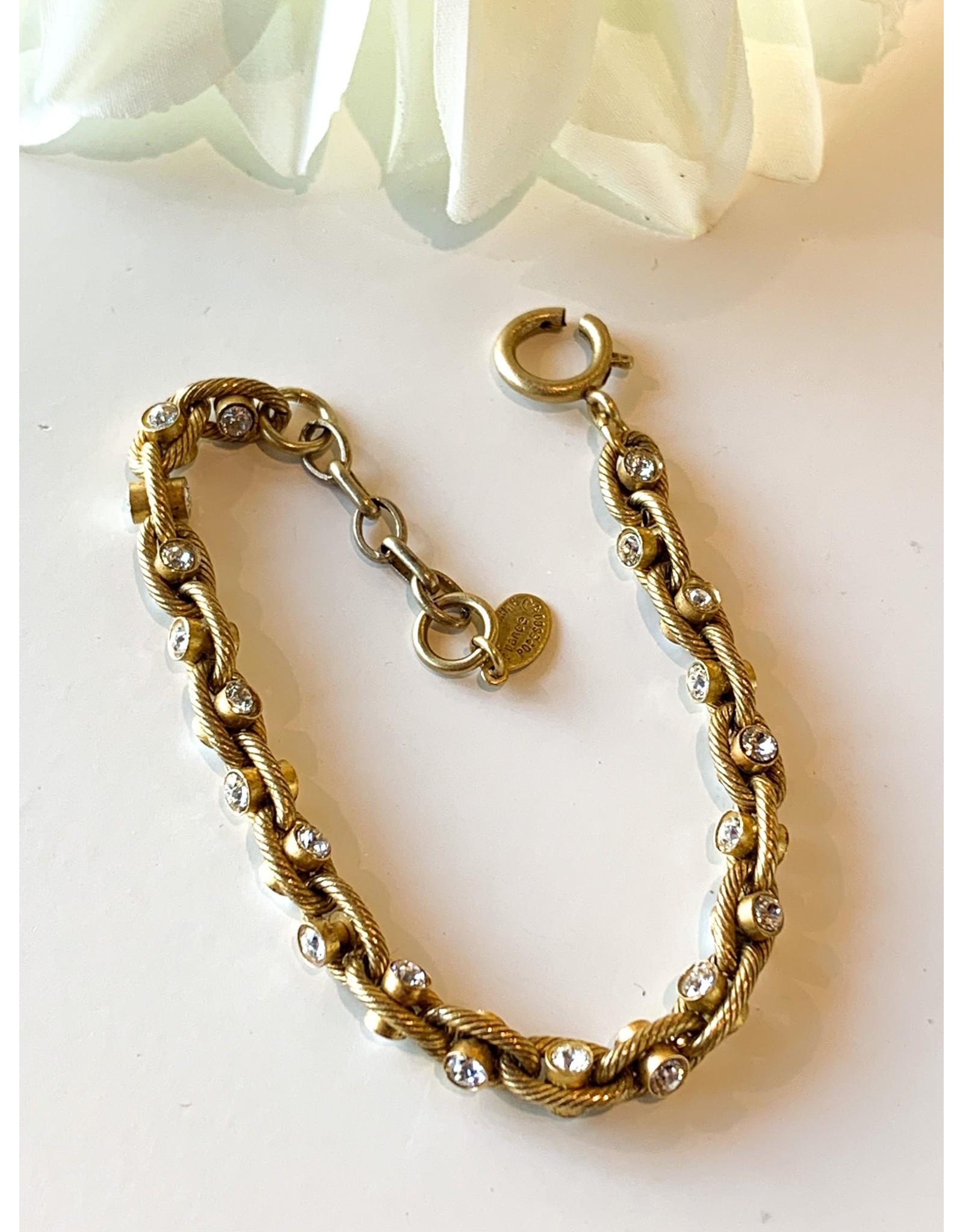 La Vie Parisienne Crystal Chain Bracelet 1641