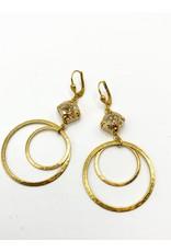 La Vie Parisienne Dbl Hoop Earring 4199G