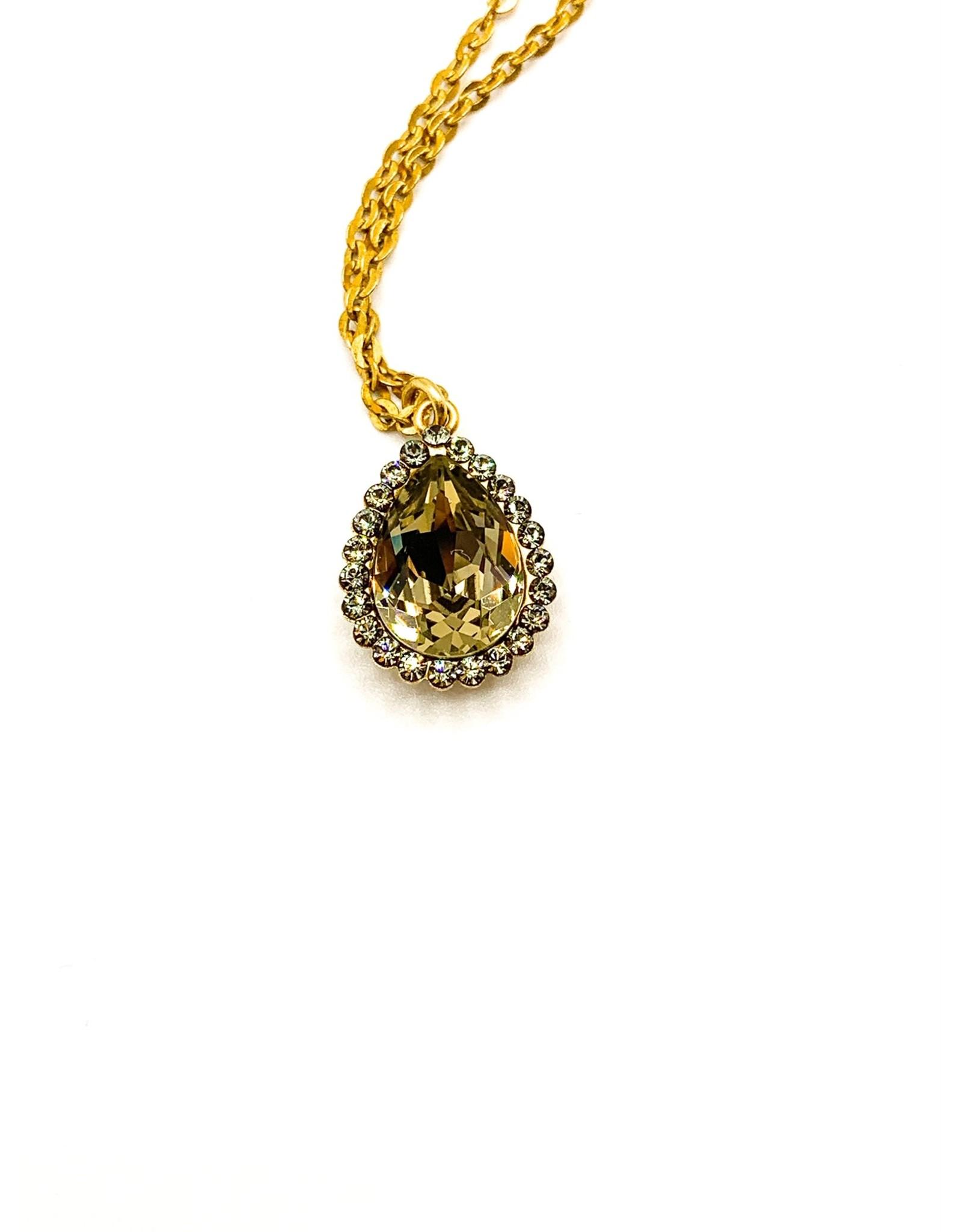 La Vie Parisienne Crystal Teardrop Necklace 1256