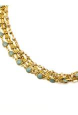 La Vie Parisienne 4 Strand Chain Necklace 1367