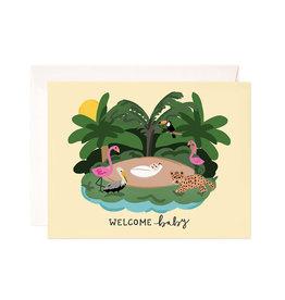 Bloomwolf Studio Bloomwolf - Baby Jungle Greeting Card