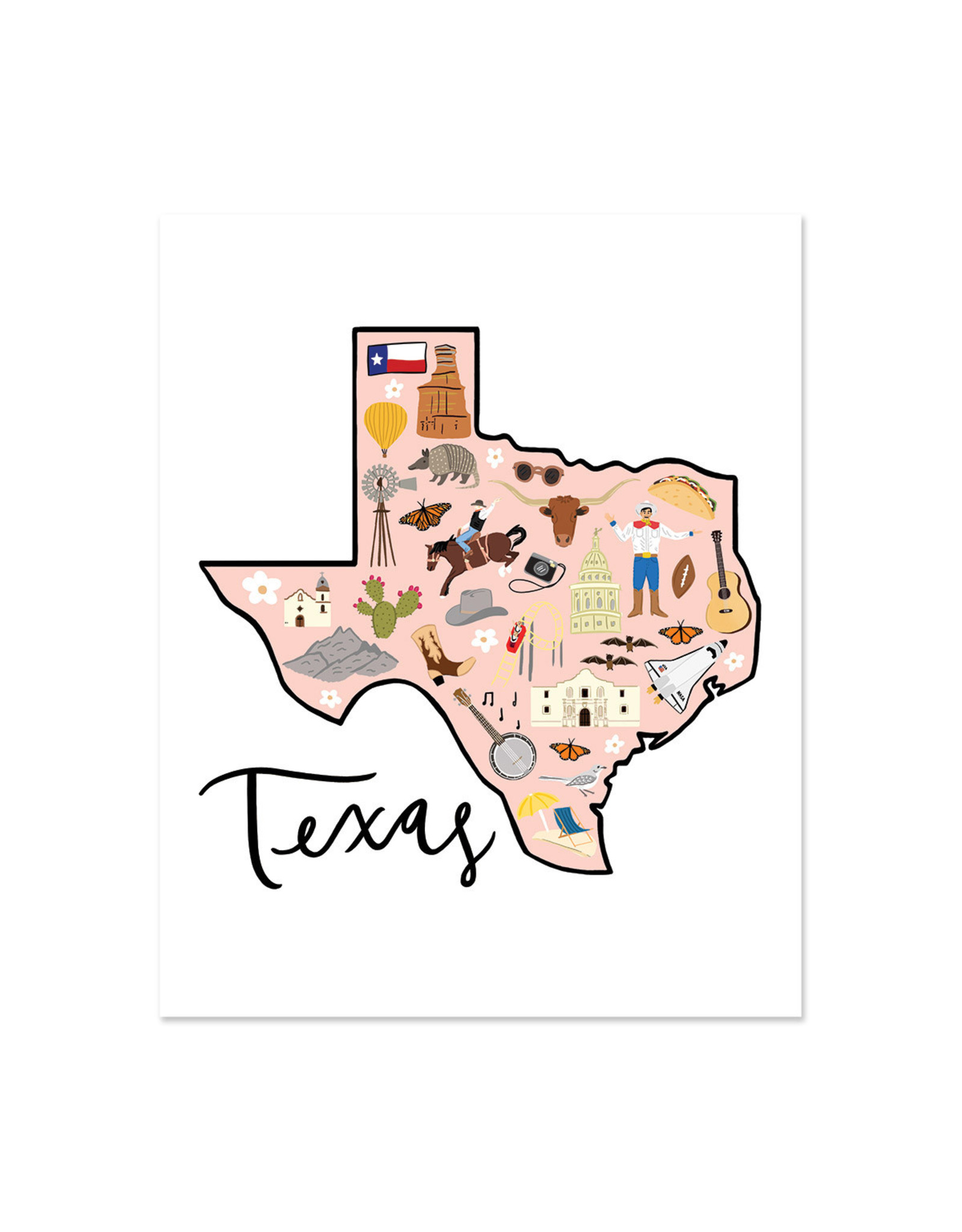 Bloomwolf Studio Bloomwolf - Texas Art Print 8x10
