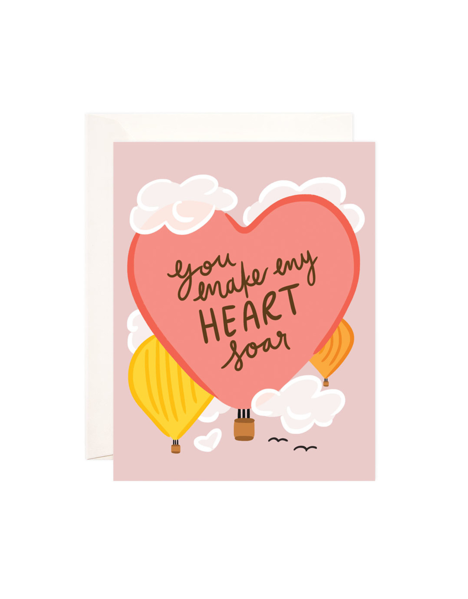 Bloomwolf Studio Bloomwolf - Soaring Heart Greeting Card