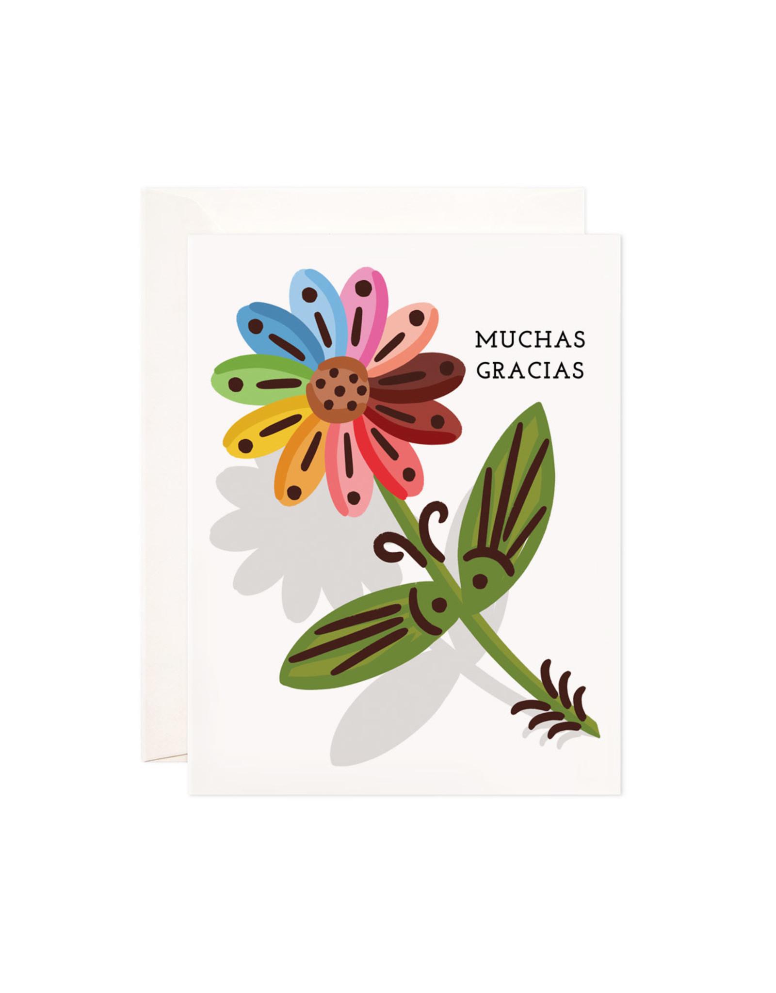 Bloomwolf Studio Bloomwolf - Gracias Flower Greeting Card