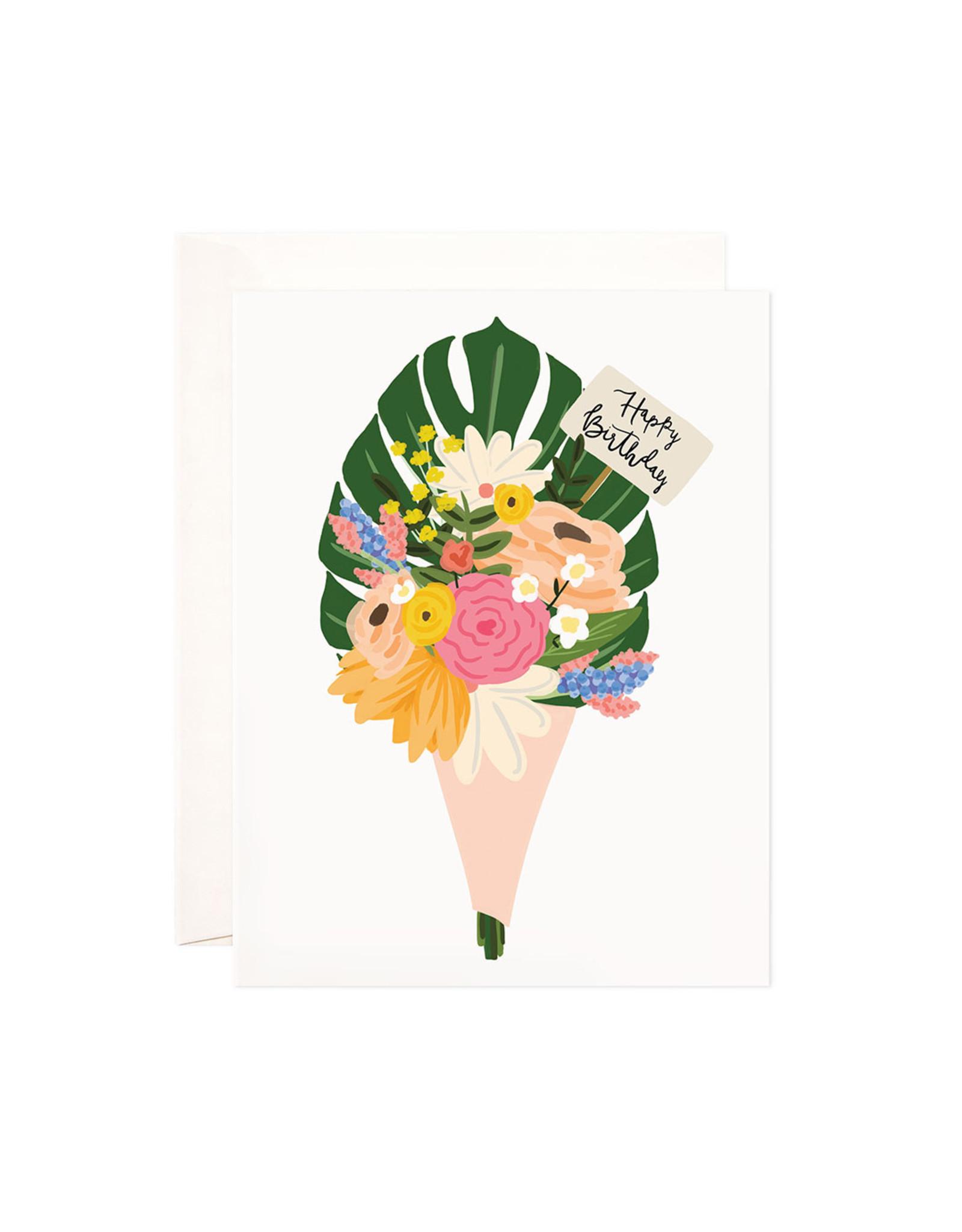 Bloomwolf Studio Bloomwolf - Birthday Bouquet Greeting Card