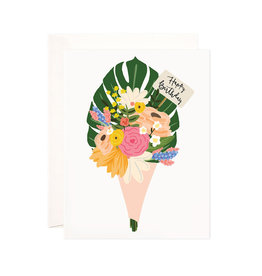 Bloomwolf Studio Bloomwolf - Birthday Bouquet Greeting Card