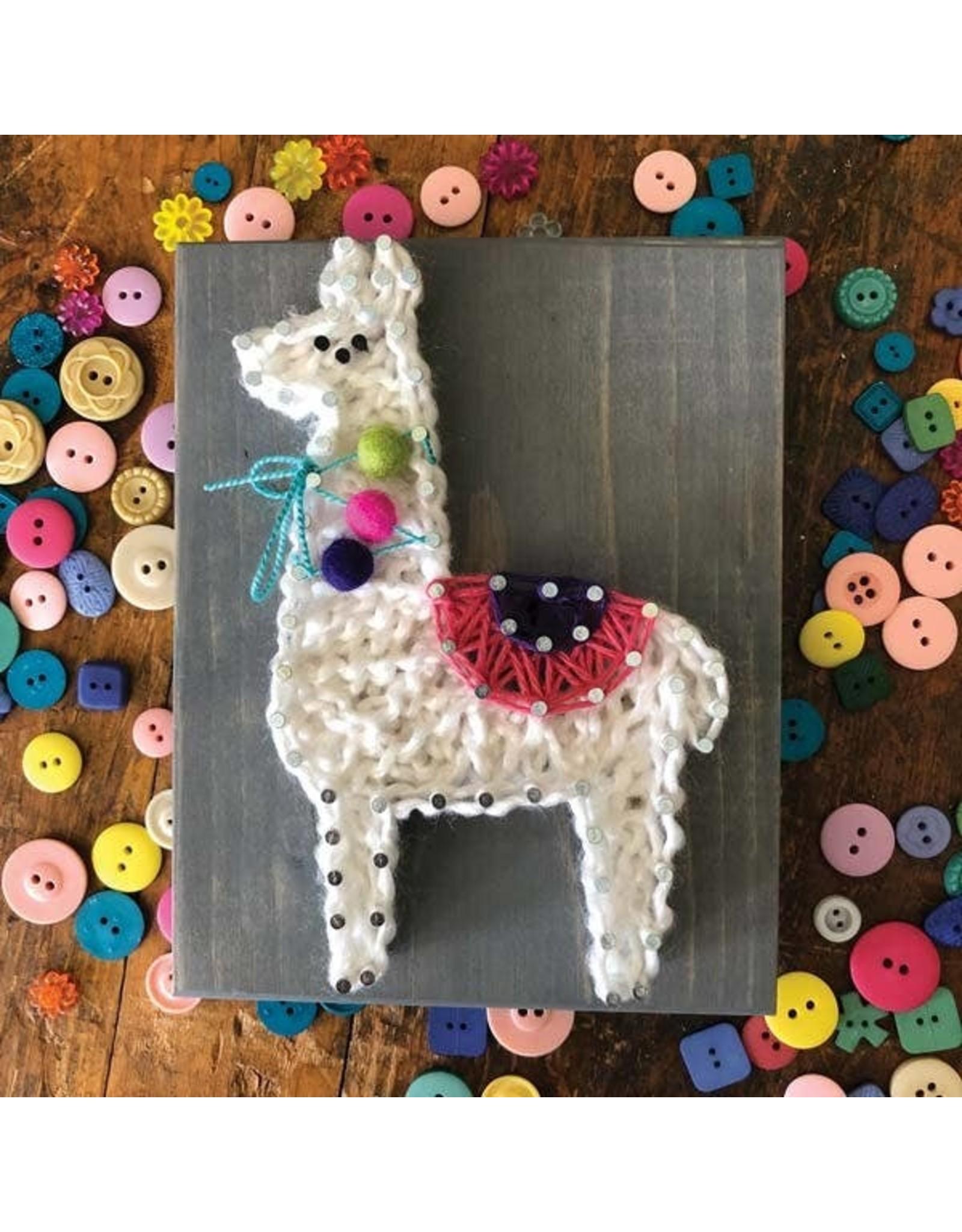 Strung By Shawna Llama Mini String Art Kit - DIY