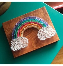 Strung By Shawna Rainbow Mini String Art Kit - DIY
