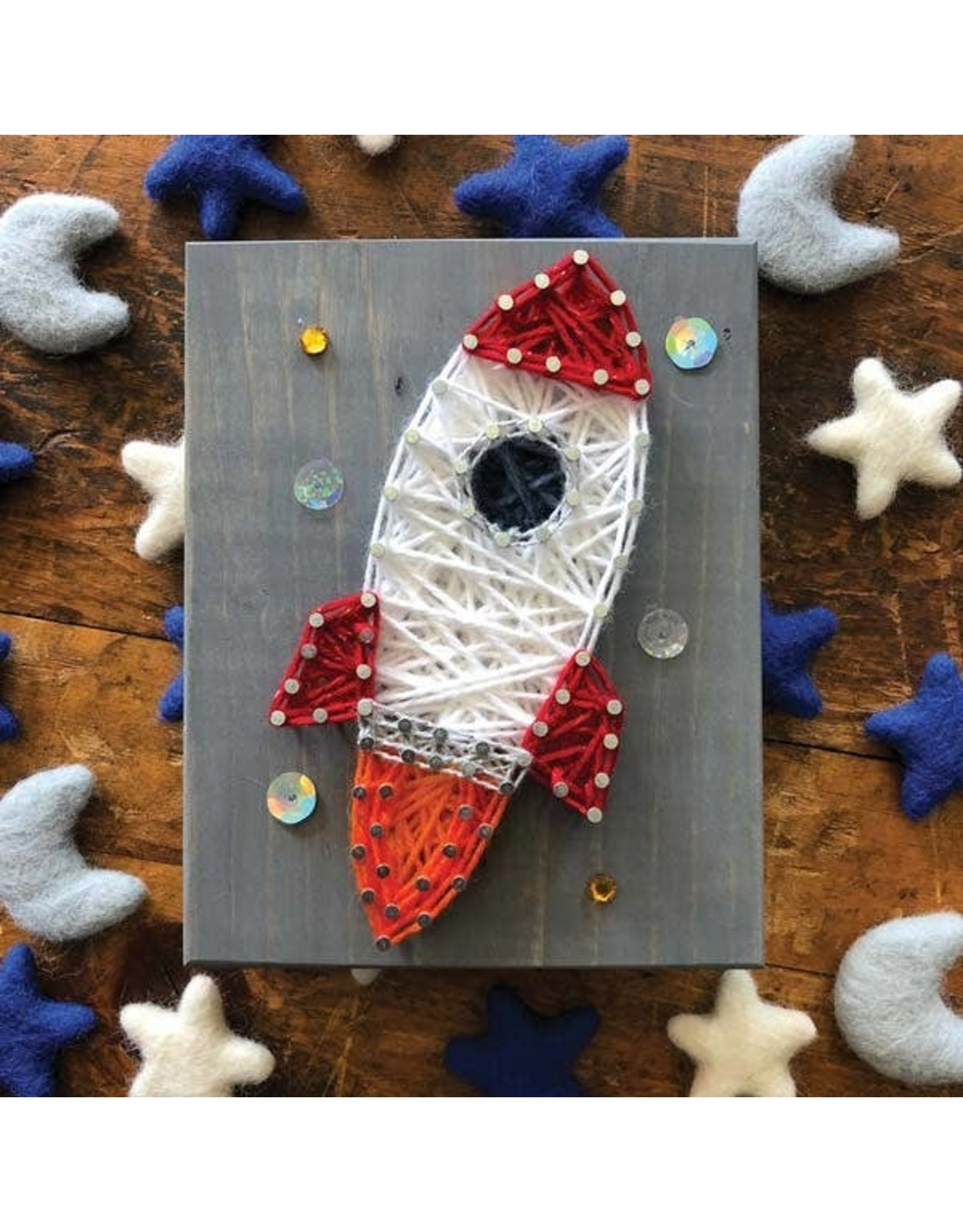 Strung By Shawna Rocket Mini String Art Kit - DIY