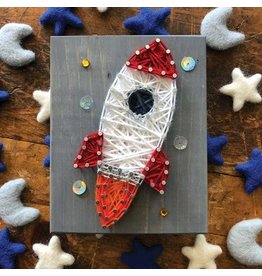 Strung By Shawna Rocket Mini String Art Kit - DIY