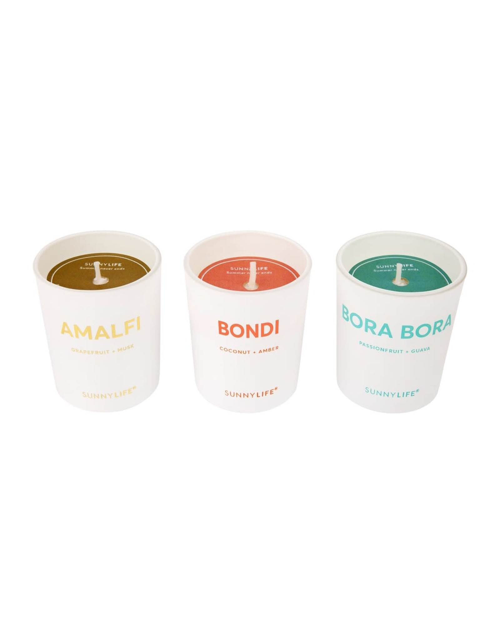 SunnyLife LLC Scented Candle Pack | Amalfi, Bondi, Bora Bora
