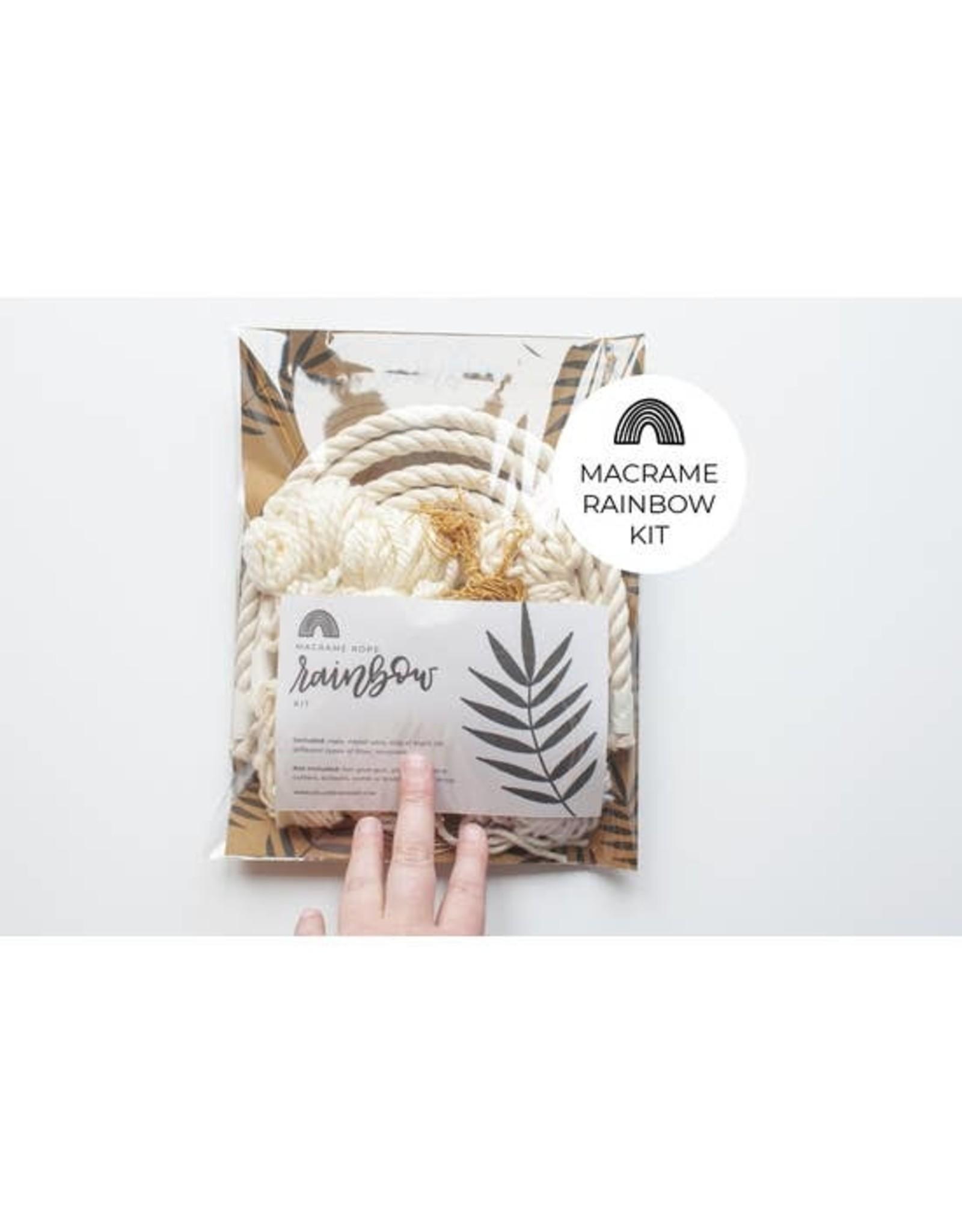 Hello Dear Heart Macrame Rainbow Kits: Neutral Cream