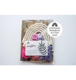Hello Dear Heart Macrame Rainbow Kits for Kids: Pink & Purple